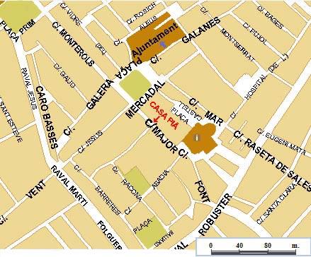 Mapa Reus C/ Major, 10