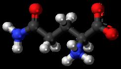 L-Glutamine-zwitterion-3D-balls